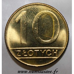 POLOGNE - Y 152.2 - 10 ZLOTYCH 1990