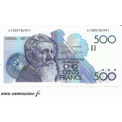 BELGIQUE - PICK 143 a - 500 FRANCS ( 1982 - 1998 ) - sign 4 et 13