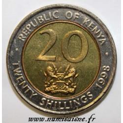 KENYA - KM 32 - 20 SHILLING 1998 - ARAP MOI