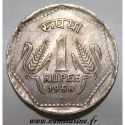 INDIEN - KM 79.1 - 1 RUPEE 1986 - Bombay
