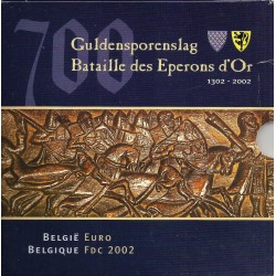 BELGIUM - MINTSET - 2002 - BU - 3 88 euros and 1 Medal