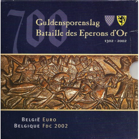 BELGIUM - MINTSET - 2002 - BU - 3.88 euros and 1 Medal