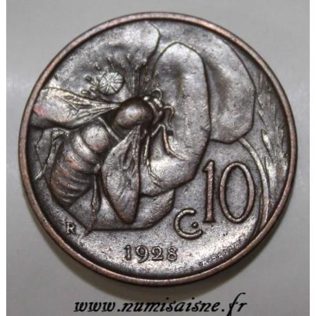 ITALY - KM 60 - 10 CENTESIMI 1928