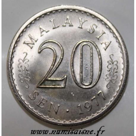 MALAYSIA - KM 4 - 20 SEN 1977 - STAIN