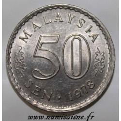 MALAYSIA - KM 5.3 - 50 SEN 1978