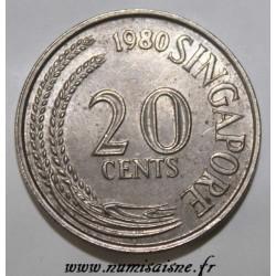 SINGAPOUR - KM 4 - 20 CENTS 1980