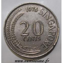 SINGAPOUR - KM 4 - 20 CENTS 1976
