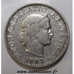 SUISSE - KM 29 - 20 RAPPEN 1893 B - LIBERTAS