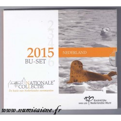 PAYS BAS - COFFRET EURO BRILLANT UNIVERSEL 2015 - 8 PIECES - OCCASION
