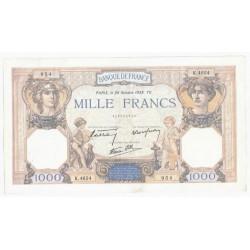 FAY 38/30 - 1000 FRANCS CERES ET MERCURE - 20/10/1938 - TRES TRES BEAU+ -PICK 90