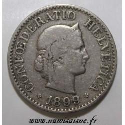 SUISSE - KM 27 - 10 RAPPEN 1899 - LIBERTAS