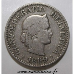 SWITZERLAND - KM 27 - 10 RAPPEN 1899 - LIBERTAS