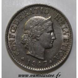 SUISSE - KM 26 - 5 RAPPEN 1947 - LIBERTAS