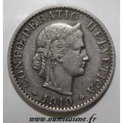SCHWEIZ - KM 29 - 20 RAPPEN 1919 B