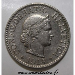 SCHWEIZ - KM 27 - 10 RAPPEN 1914 B