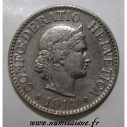 SUISSE - KM 27 - 10 RAPPEN 1914 B