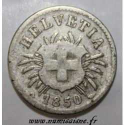 SCHWEIZ - KM 5 - 5 RAPPEN 1850 BB