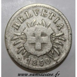 SWITZERLAND - KM 5 - 5 RAPPEN 1850 BB