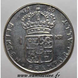 SCHWEDEN - KM 826 - 1 KRONA 1960