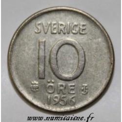 SWEDEN - KM 823 - 10 ORE 1956 - GUSTAF VI