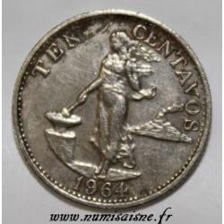 PHILIPPINEN - KM 188 - 10 CENTAVOS 1964