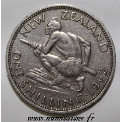 NEW ZEALAND - KM 27.2 - 1 SHILLING 1962