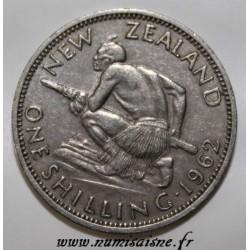 NOUVELLE-ZÉLANDE - KM 27.2 - 1 SHILLING 1962