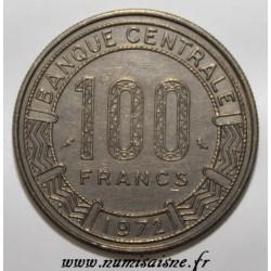 GABON - KM 12 - 100 FRANCS 1971