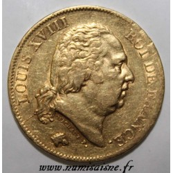 FRANCE - KM 712 - 40 FRANCS 1818 W - Lille - LOUIS XVIII
