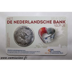 NETHERLANDS - KM 353 - 5 EURO 2014 - 200 years of the Netherlands bank