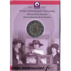 BELGIUM - KM 308 - 2 EURO 2011 - 100 YEARS OF INTERNATIONAL WOMEN'S DAY