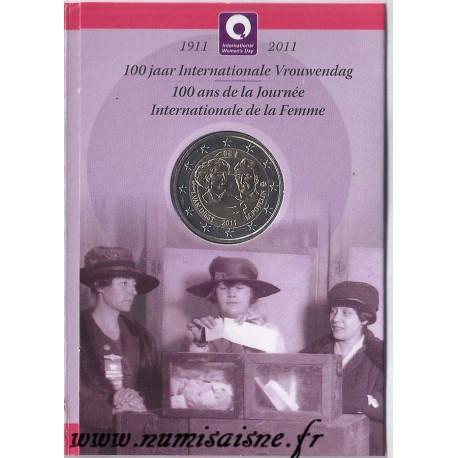 BELGIUM - KM 308 - 2 EURO 2011 - 100 YEARS OF INTERNATIONAL WOMEN'S DAY