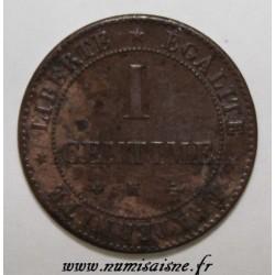 FRANCE - KM 826 - 1 CENTIME 1872 K - Bordeaux - TYP CÉRÈS