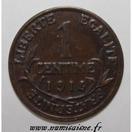 FRANCE - KM 840 - 1 CENTIME 1914 - TYPE DUPUIS