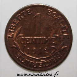 FRANCE - KM 840 - 1 CENTIME 1912 - TYPE DUPUIS
