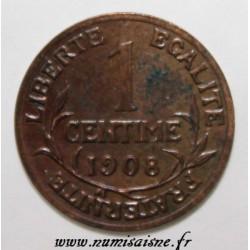 GADOURY 90 - 1 CENTIME 1908 - TYPE DUPUIS - KM 840