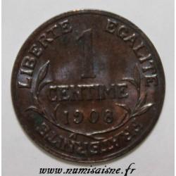 FRANCE - KM 840 - 1 CENTIME 1908 - TYPE DUPUIS