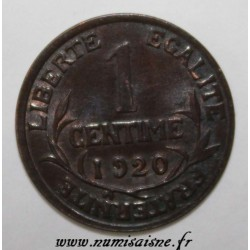 GADOURY 90 - 1 CENTIME 1920 - TYPE DUPUIS - KM 840