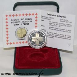 BELGIQUE - 2 EURO 2014 - 150 ANS DE LA CROIX ROUGE - RODE KRUIS