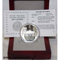 BELGIUM - KM 342 - 20 EURO 2014 - 25 YEARS OF THE FALL OF THE WALL OF BERLIN