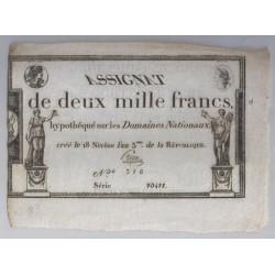 ASSIGNAT DE 2 000 FRANCS - 07/01/1795 - DOMAINES NATIONAUX - TTB