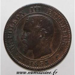 FRANKREICH - KM 776 - 2 CENTIMES 1853 A - Paris - NAPOLÉON III
