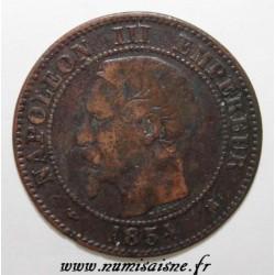 GADOURY 103 - 2 CENTIMES 1854 K - Bordeaux - TYPE NAPOLEON III - KM 776