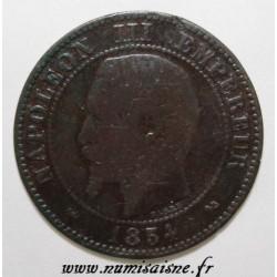 FRANCE - KM 776 - 2 CENTIMES 1854 B - Rouen - NAPOLÉON III