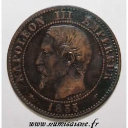 GADOURY 103 - 2 CENTIMES 1855 A - Paris - NAPOLÉON III - KM 776 - Chien