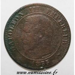 GADOURY 103 - 2 CENTIMES 1855 MA - Marseille - NAPOLÉON III - KM 776 - Ancre