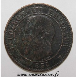 FRANCE - KM 776 - 2 CENTIMES 1855 W - Lille - NAPOLEON III