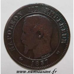 FRANCE - KM 776 - 2 CENTIMES 1857 B - Rouen - TYPE NAPOLEON III