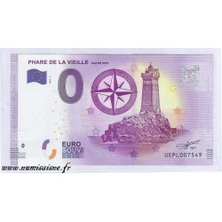 FRANCE - County 29 - PLOGOFF - TOURISTIC 0 EURO SOUVENIR NOTE - LIGHTHOUSE LA VIEILLE - RAZ DE SEIN - 2017