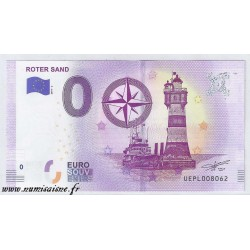 GERMANY - TOURISTIC 0 EURO SOUVENIR NOTE - LIGHTHOUSE OF ROTER SAND - WESER - 2019